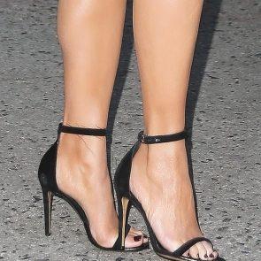 Chrissy Teigen feet in black high heels