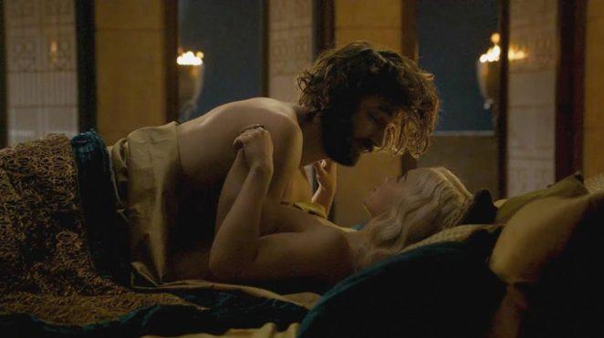 Emilia Clarke topless sex scene