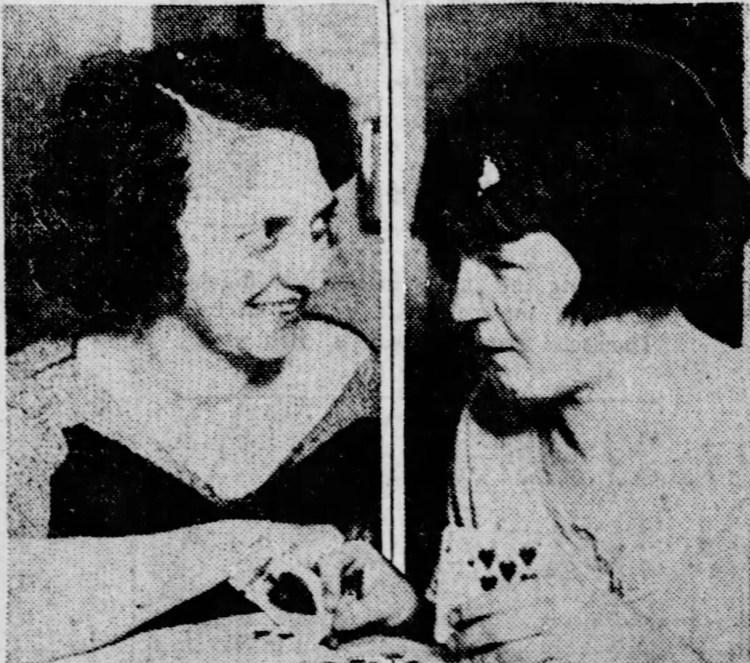 Belva Gaertner and Kitty Malm
