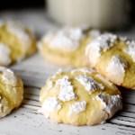 Cookie Recipes = Meyer Lemon Crinkle Cookies