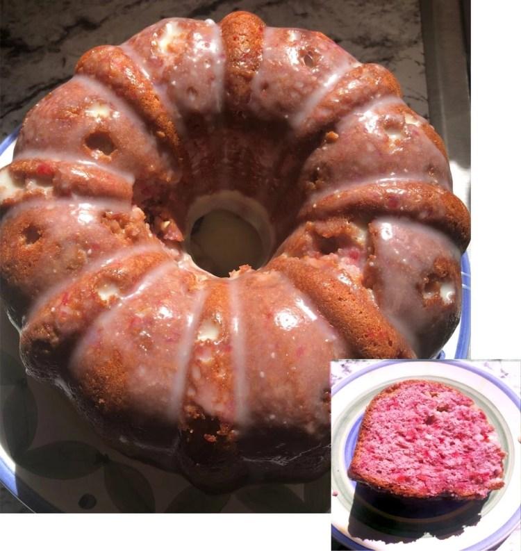 Cherry White Chocolate Bundt Cake
