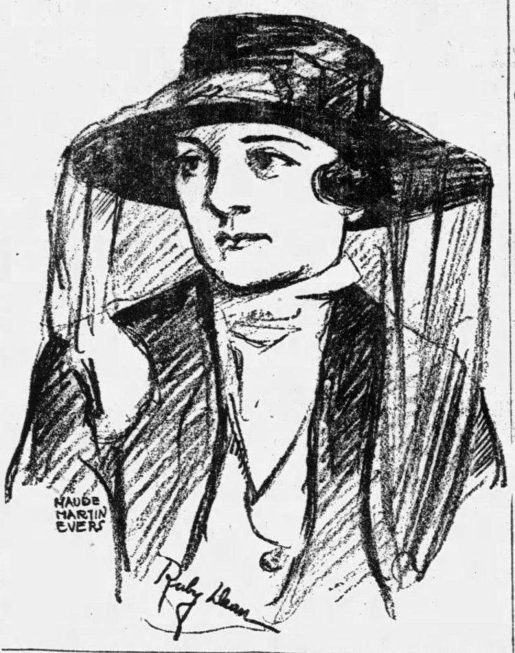 Sketch of Ruby Dean in Trial
