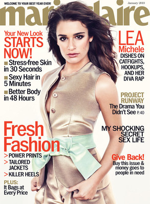 Lea Michele Talks Boobs and Cory Monteith in Marie Claire