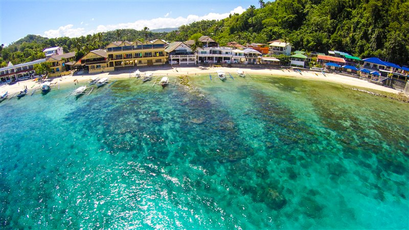 big lalaguna beach puerto galera aerial photos