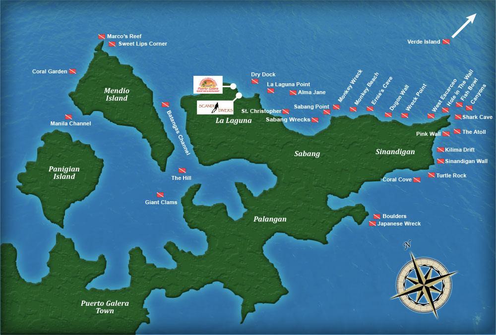 scuba diving sites of puerto galera philippines