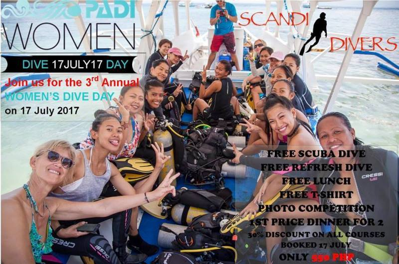 padi womens dive day 2017 scandi divers resort puerto galera