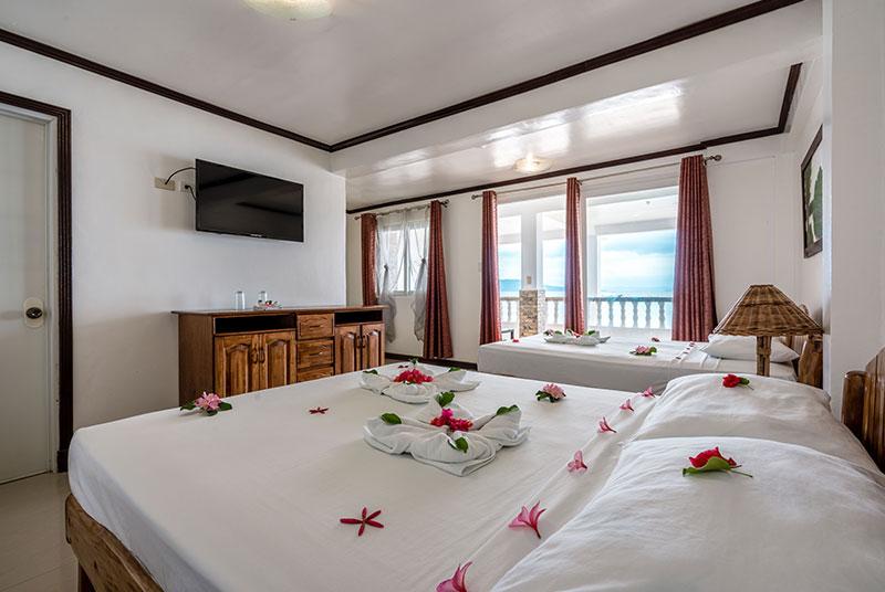 beachfront deluxe room scandi divers resort puerto galera