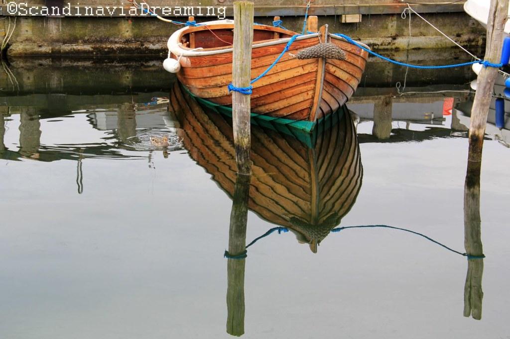 Bateau du port de Dragor Danemark