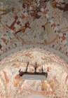 Fresques de la voûte de l'église de Fjanefjord sur Mon