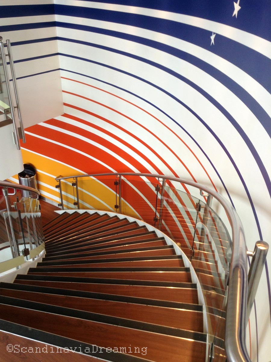 Scandilines ferry pour traverser le Sund, escaliers