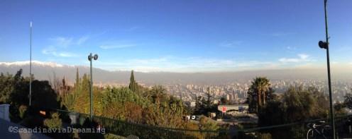 Vue de Santiago du Chili