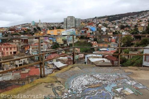 Vue de Valparaiso du Cerro Panteon