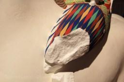 Guerrier antique recolorisé pour l'exposition de la Glyptotek
