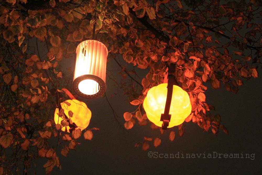 Lanternes magiques du parc de Tivoli à Copenhague