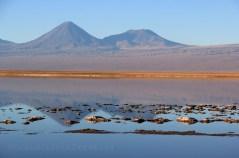Le volcan Licamcabur en réflection