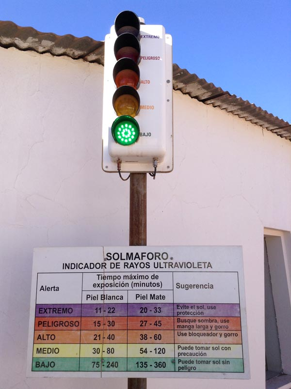 Signalisation du danger des rayons solaires