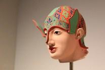 Tête de guerrier grec recolorisé pour l'exposition de la Glyptotek