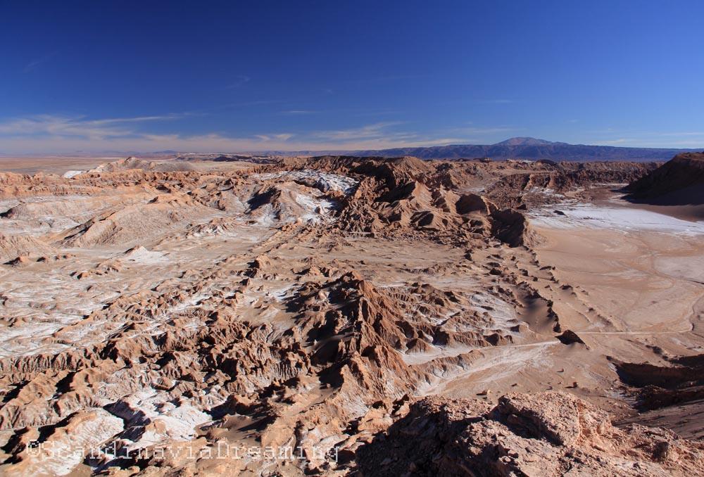 Vallée de la lune dans le désert d'Atacama