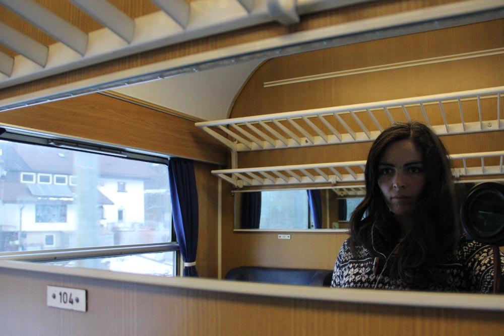 Selfie dans le train