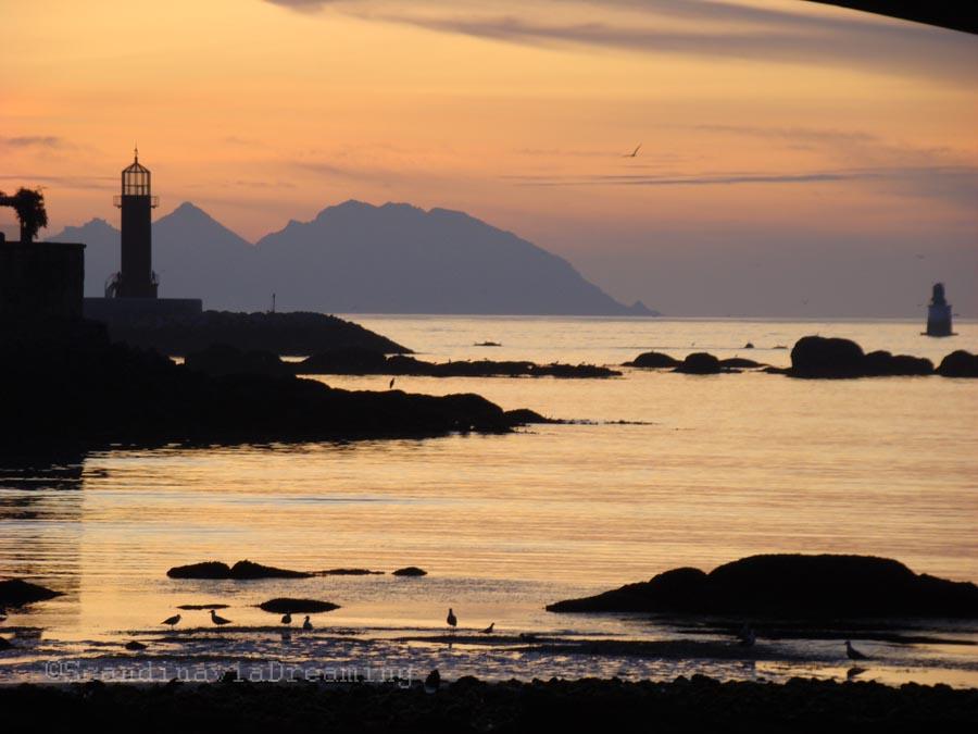 coucher de soleil galicien