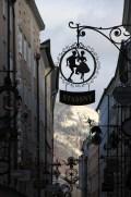 Rue du centre-ville de Salzbourg