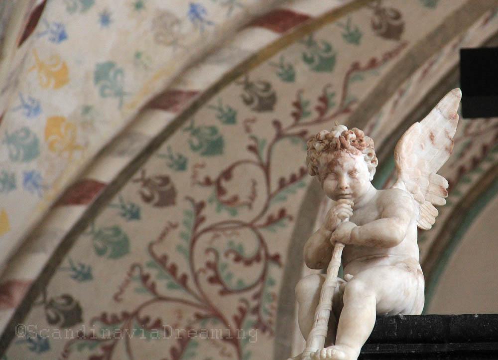 Ange d'un tombeau monumental de Roskilde