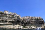 Les falaises de Bonifacio de la mer