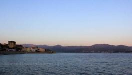 Coucher de soleil sur les montagnes d'Ajaccio