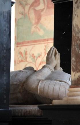 Gisant en prière à la cathédrale de Roskilde