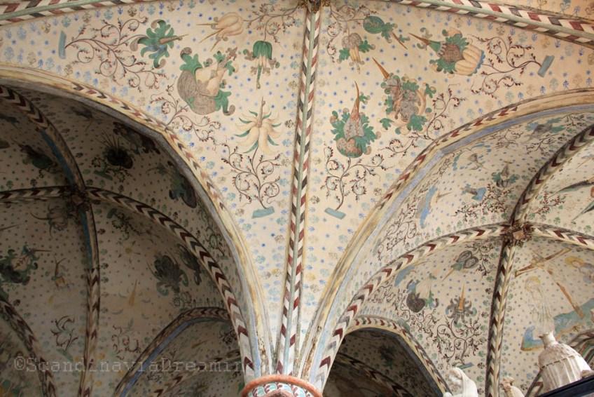 Voûte d'une chapelle de la cathédrale de Roskilde