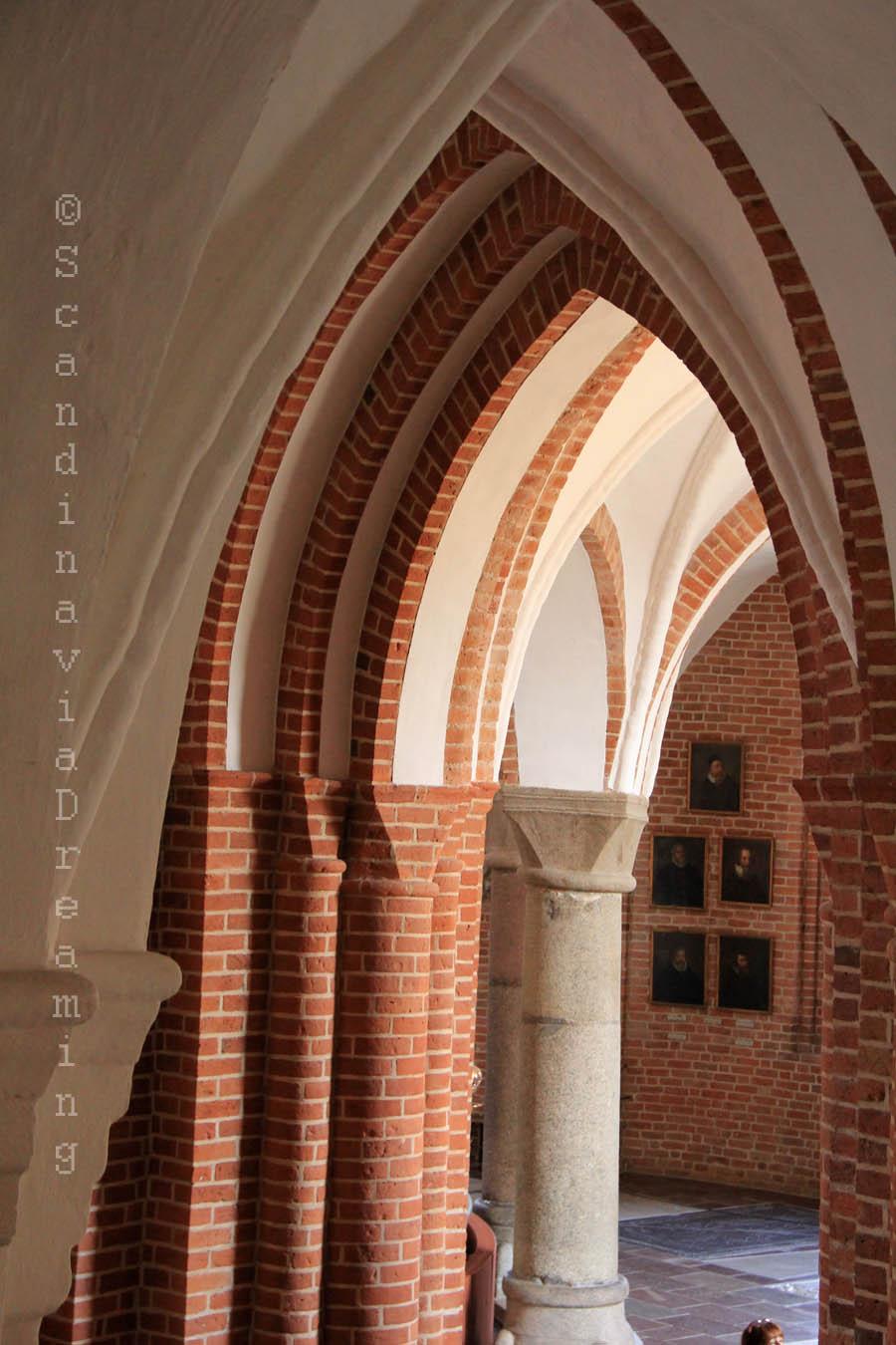 Voûtes en ogives à la cathédrale de Roskilde