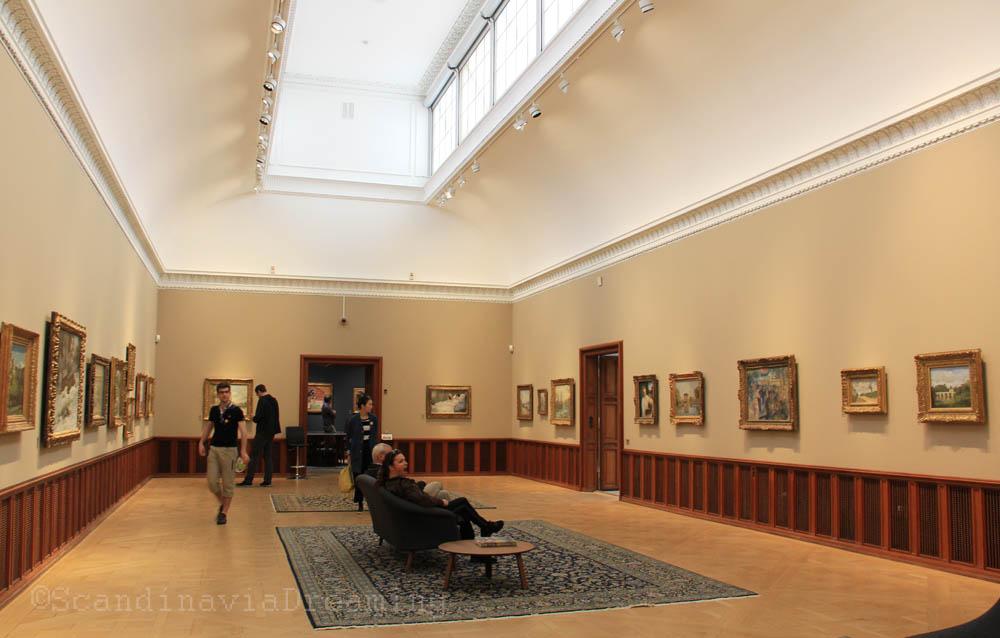 Salle du musée impressioniste d'Ordrupgaard