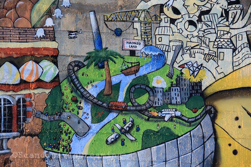 Détail de la fresque de l'île de Nantes