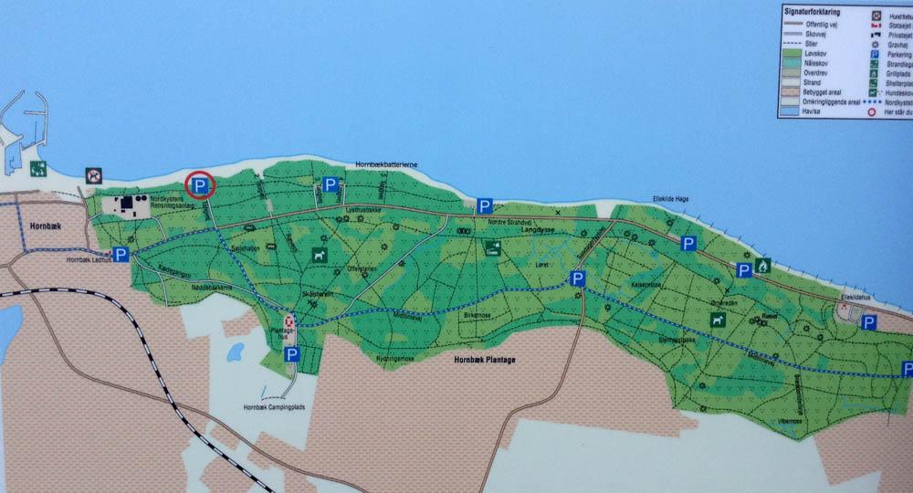 Carte d'Hornbaek plantage