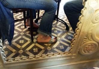 Miroir bien placé, au restaurant Le Relais