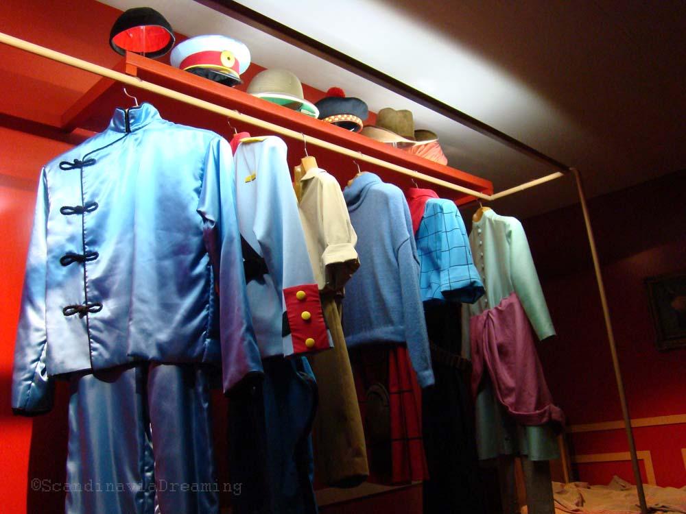 Les différents costumes de Tintin