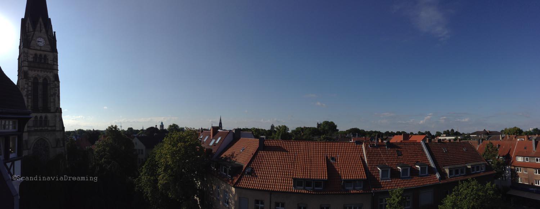 Panoramique de la vue de notre chambre