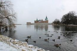 Château de Kalmar et les canards