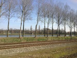 En train