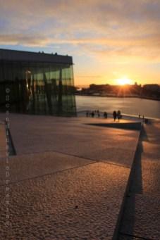 Opéra coucher de soleil Oslo