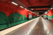 Metro rouge sang