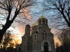 Coucher de soleil Riga
