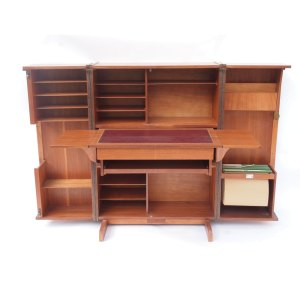 Bureau « box » home office, vintage scandinave