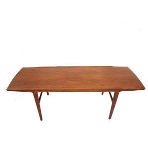 Longue table basse scandinave, danoise années 50 60