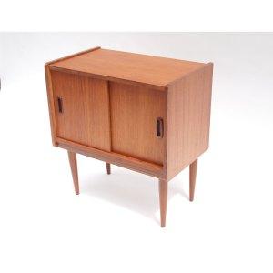 Petit meuble rangement vinyles, vintage scandinave