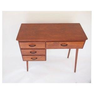 Petit bureau vintage, pieds compas, années 50 60