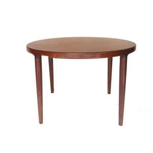 Table de salle à manger ronde, scandinave, palissandre de Rio