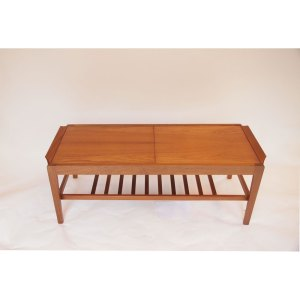 Table basse scandinave vintage, extensible