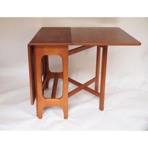 Table de salle à manger pliante rectangulaire, à abattants vintage scandinave