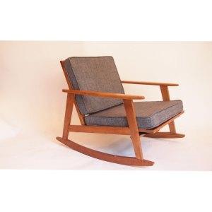 Fauteuil scandinave, rocking chair, vintage années 50 60